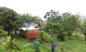 La tormenta destechó once viviendas en El Soberbio