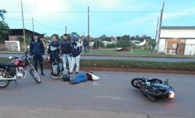 Mujer grave tras ser embestida por una moto en la ex 213