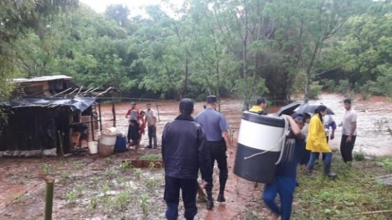 Oberá: al menos 50 familias afectadas por el temporal
