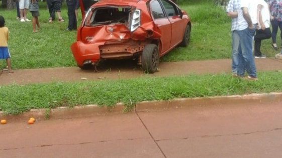 Triple choque con heridos en Itaembé Miní