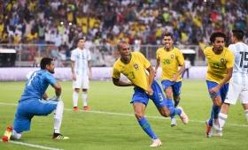 Amistoso internacional: Argentina perdió con Brasil