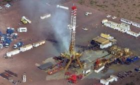 Fuga de gas en un pozo petrolero