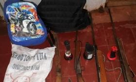 Tres detenidos con armas en Esperanza