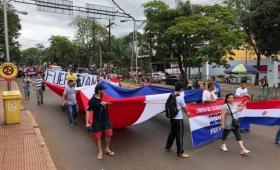 Protesta contra el Clan Zacarías en Ciudad del Este