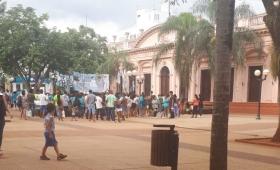 Manifestantes liberaron la plaza 9 de Julio