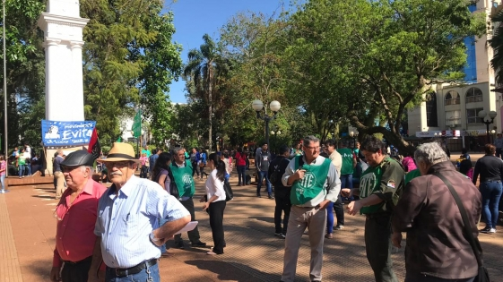 Protesta de CCC, ATE y organizaciones K contra el Presupuesto de Cambiemos