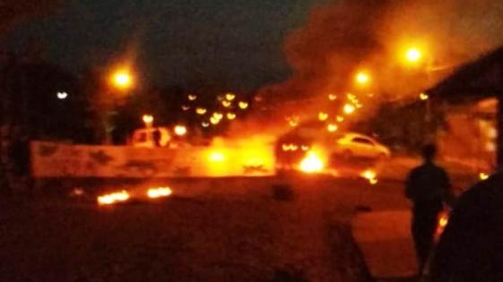 Piquete y quema de gomas por la liberación de Silva