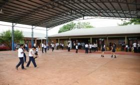La EBY inauguró obras en la escuela 827
