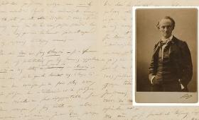 Subastaron en 234 mil euros una carta de suicidio de Baudelaire