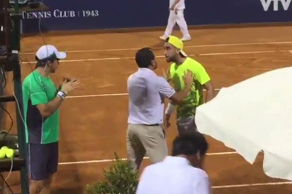 La acalorada discusión de dos tenistas argentinos en Challenger de Montevideo
