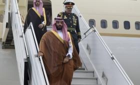 El heredero saudita llegó a Argentina para la cumbre del G20