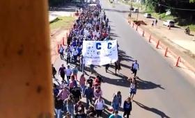"""Marcha de la CCC: """"Pedimos fuentes de trabajo"""""""