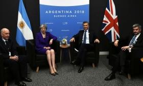 Histórico encuentro entre Macri y Theresa May en el G20