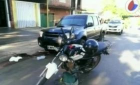 Choque en Posadas dejó como saldo un motociclista herido