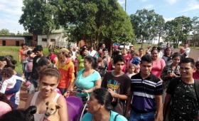 Protesta y olla popular de tareferos en Campo Viera