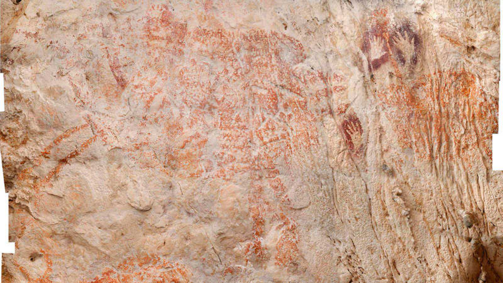En una cueva en Borneo hallan imagen más antigua de animal