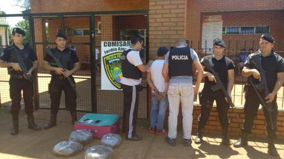 Capturaron a 'narco-valijero' en Jardín América