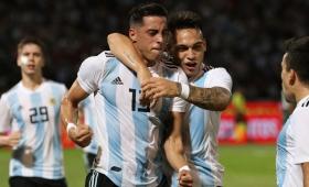 Argentina, sin brillar, derrotó a México