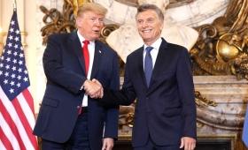 """Macri le agradeció a Trump """"el apoyo a la Argentina en tiempos difíciles"""""""