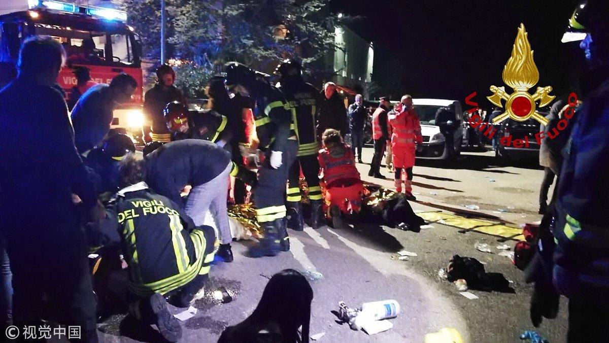 Al menos seis muertos en Italia tras una estampida en un concierto