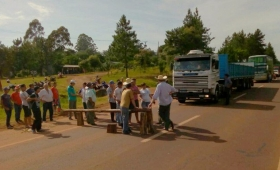 San Vicente: cortaron la ruta por el mal estado de calles