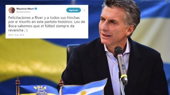 El presidente Macri felicitó a River por el título en la Copa Libertadores