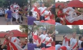 River: ex intendente fue parte del desopilante festejo en El Soberbio