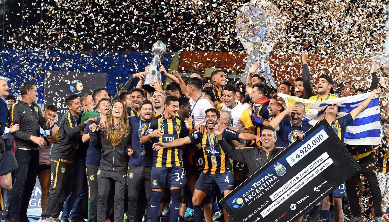 ¡Se le cortó la mufa!  Rosario Central es el nuevo campeón de la Copa Argentina