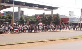 Piquete de vendedores frente a Transferencia
