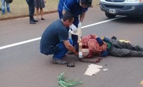Internaron en grave estado a un ciclista atropellado en Capioví