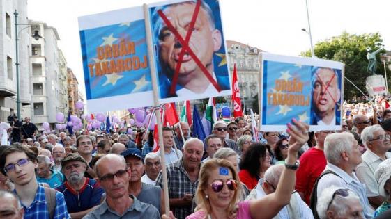 La TV Pública de Hungría, blanco de protestas contra el gobierno