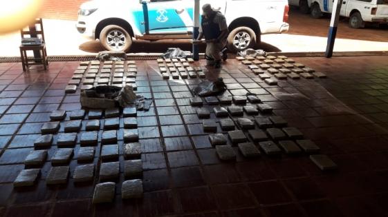 Secuestran 120 kilos de marihuana en el último operativo del año
