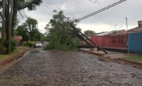 Temporal: 70 familias afectadas y numerosas zonas sin luz