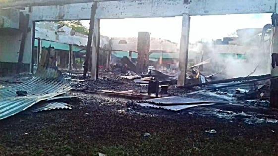 Cataratas: se incendiaron un cajero y un comercio