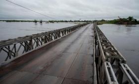Arroyo Guazú: habilitaron el tránsito sobre el puente bailey