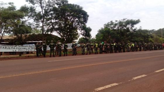 Wanda: Gendarmería impidió el piquete de tareferos