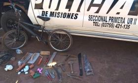 Recuperan objetos robados y buscan a los autores