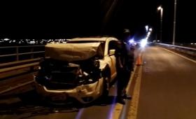 Violento choque en cadena en el puente internacional