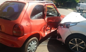 Choque y heridos en calle Morcillo