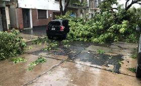Fuerte temporal de lluvia, granizo y viento en Santa Fe