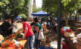 Mandiocazo en la Plaza 9 de Julio