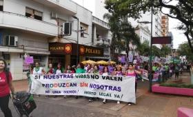 Marcha de mujeres contra la violencia de género