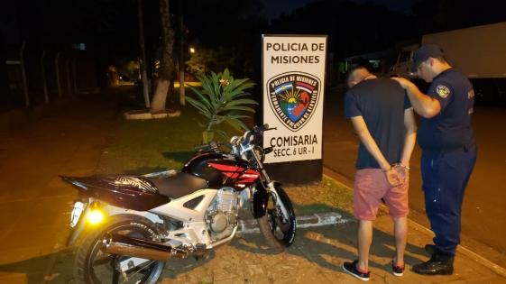 Motociclista alcoholizado fue detenido y la moto secuestrada