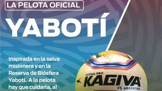 Futsal: la pelota del mundial se llama Yabotí