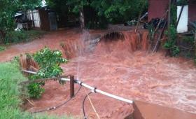 La ciudad desbordada por las intensas lluvias