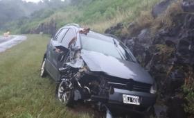 Mujer herida en despiste sobre ruta 12