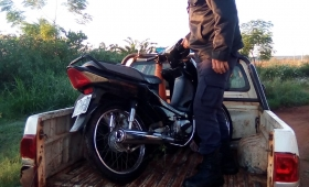 Un joven terminó detenido por robar una moto