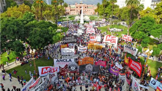Gremios y organizaciones sociales se movilizaron en el país