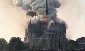 Se incendió la catedral de Notre Dame en París