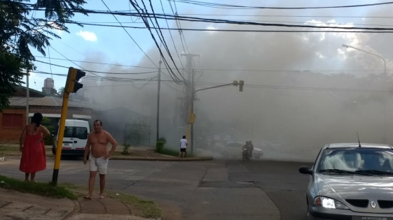 Falló el aire acondicionado y provocó un incendio